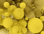 Golden sferische achtergrond
