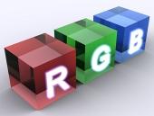 Concept RGB cubes