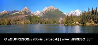 Panorama van Strbske Pleso, Hoge Tatra