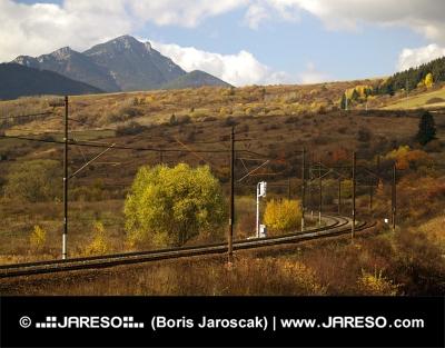 Railroad en berg