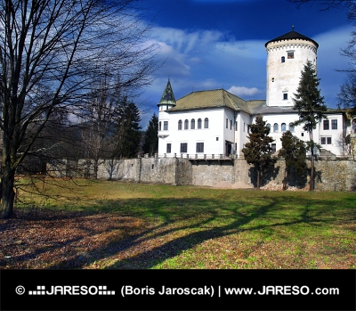 Budatin Kasteel en park in Zilina, Slowakije