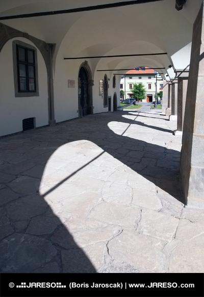 Arcades van het stadhuis in Levoca