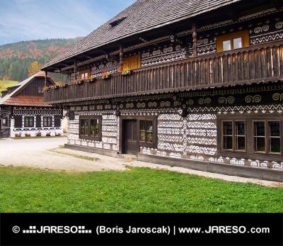 Unieke folk huizen in Cicmany, Slowakije