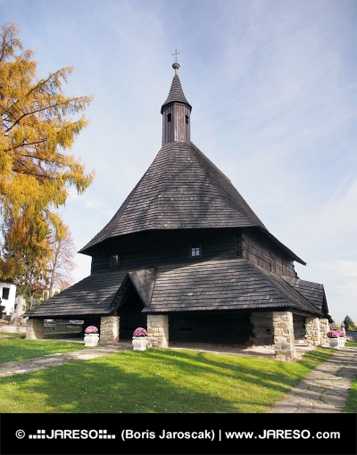 Houten kerk in Tvrdosin, Slowakije