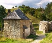 Toegang tot het Sklabina Kasteel, Slowakije