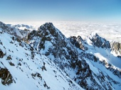 Kolovy piek (Kolovy stit) in Hoge Tatra in de winter