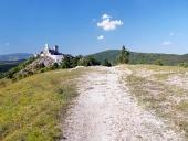 Toeristische route naar Cachtice kasteel