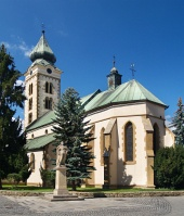 Kerk in Liptovsky Mikulas, Slowakije