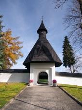 Poort naar de kerk in Tvrdosin, Slowakije
