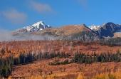 Krivan, Hoge Tatra in de herfst, Slowakije
