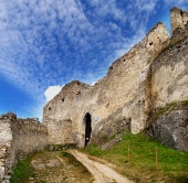 Entrance to the castle of Beckov, Slovakia