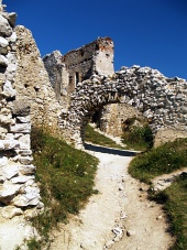 Interior of the castle ...