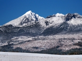 Krivan, Kratka and Ostra Peaks in winter