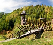 Rare wooden castle in ...