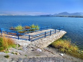 Summer view of wharf at Liptovska Mara lake, Slovakia