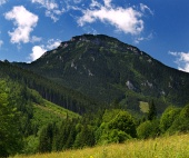 Eastern side of Choc Mountain peak during summer in Slovakia