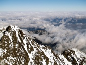 Winter view from the Lomnicky Peak in High Tatras, Slovakia