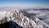 High Tatras as viewed from the Lomnicky Peak in winter