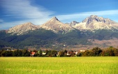 Peaks of The High Tatra Mountains in summer