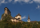 Orava Castle in clear ...