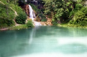 Lake and waterfall