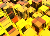 Żółte tło kostki