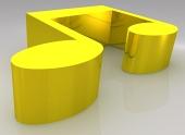 Złoty double cała nuta (breve)