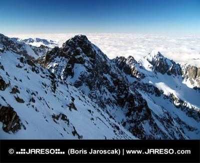 Szczyty Wysokich Tatr w zimie