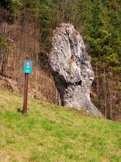 Pięść Janosika, pomnik przyrody, na Słowacji
