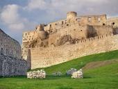 Fortyfikacja Zamek Spiski tuż przed zachodem słońca