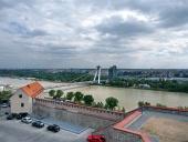 Burzowa pogoda nad Bratysławie