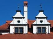 Unikalnych średniowiecznych dachy w Lewoczy