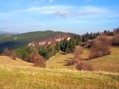 Pola jesienią w Tupa Skala, na Słowacji
