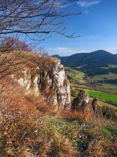 Jesień z perspektywy Tupa Skala, na Słowacji