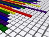 Egalizator în diagonală, în culorile curcubeului