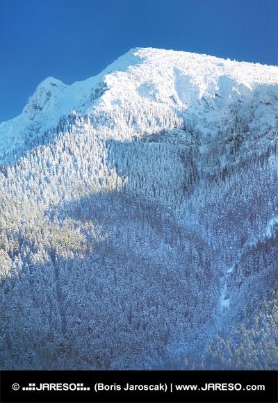 Acoperite de zăpadă mare munte de ciocolată