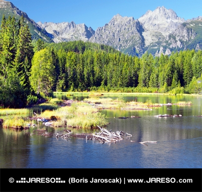 Strbske Pleso și Strbsky de vârf în High Tatras