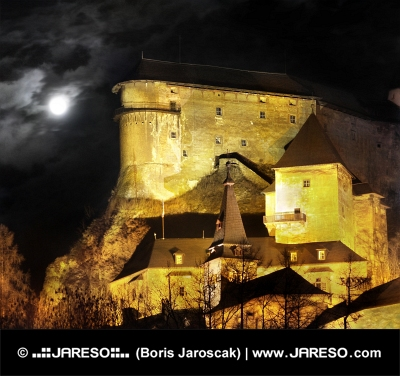 Castelul Orava - scena de noapte