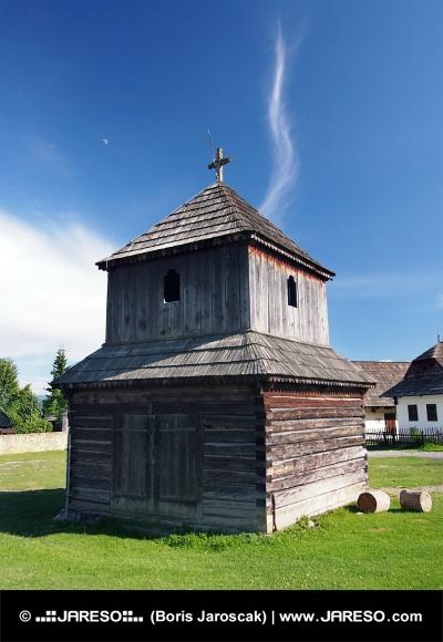 Clopot de lemn turn în Pribylina, Slovacia