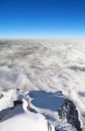 De mai sus Lomnické sedlo, High Tatras, Slovacia
