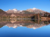 Reflec?ie în Strbske Pleso, High Tatras
