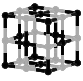 Абстрактная черно-белая кубическая структура 3d модель