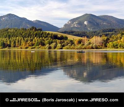 Отражение  холмов Правнац и Ломи , Словакия