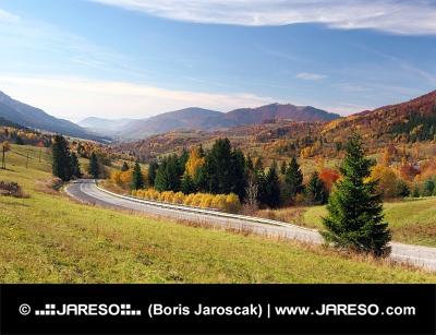 Дорога в деревне Терхова, Словакия