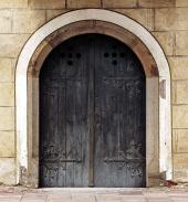 Перпендикулярной вид средневековой двери