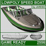 Lowpoly speed boat