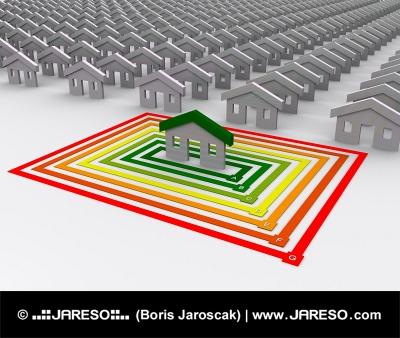 Bara en är energimässigt effektiv hus