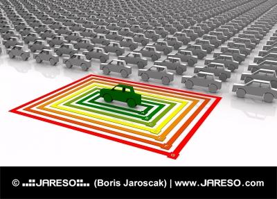 Bara en är energimässigt effektiv bil