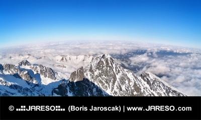 Panoramautsikt över Tatrabergen, Slovakien