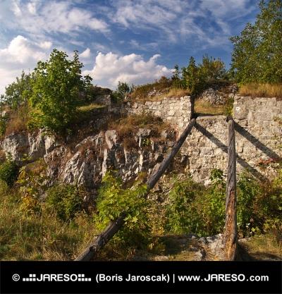 Ruinerna av slottet Liptov, Slovakien